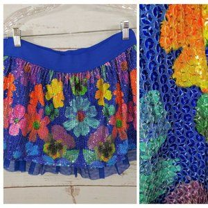 Justice Skirt /Skort Girls Size 18 Floral Sequins
